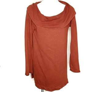 Chico's Zenergy cowl neck tunic burnt orange size0